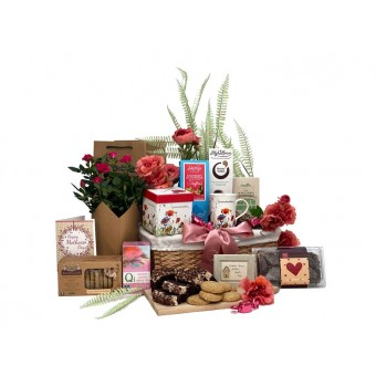 Special Grandmother Gift Basket With Flowers
