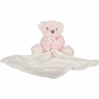 Hug-a-Boo Teddy Bear Blankie Pink