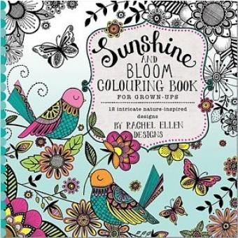 Sunshine & Bloom Adult Colouring Book by Rachel Ellen