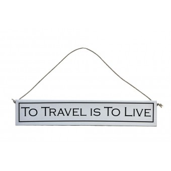 Decorative Wooden Sign for People who Love to Travel