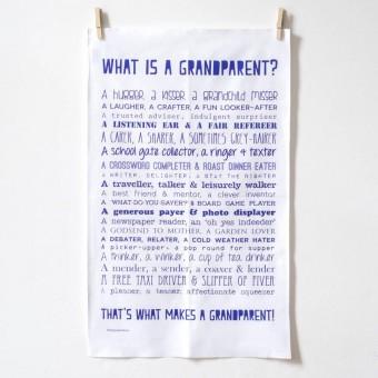 """What Is A Grandparent"" Poem Print Tea Towel"