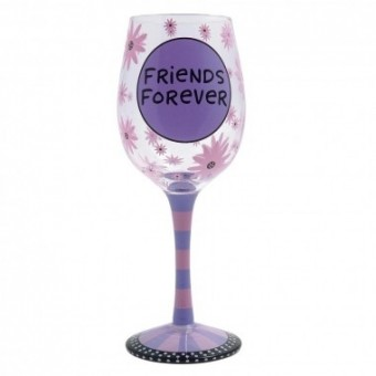 Friends Forever Wine Glass