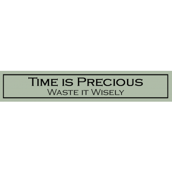 """Decorative Wooden Sign """"Time is Precious, Waste it Wisely"""""""