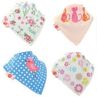 Bandana Dribble Bibs - Cool 4 Pack